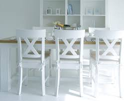 magnificent white wooden dining table and chairs dining table round