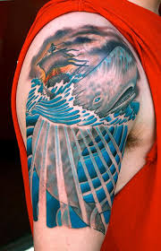 whale and ship on fire marine life tattoos pinterest