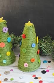 green yarn u0026 buttons christmas trees diy