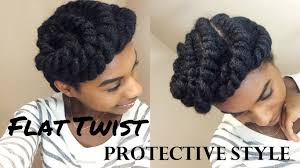 Chunky Flat Twist Hairstyles by Flat Twist Protective Style Youtube