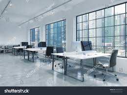 Loft Modern by Workplaces Bright Modern Loft Open Space Stock Illustration