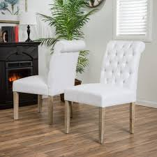 elmerson roll back off white dining chairs set of 2 chairs of