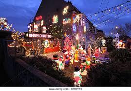 Christmas Home Decor Uk Christmas Lights House Exterior Uk Stock Photos U0026 Christmas Lights