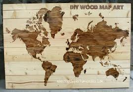 Map Art Fine Decoration Wooden World Map Wall Art Stunning Design Items