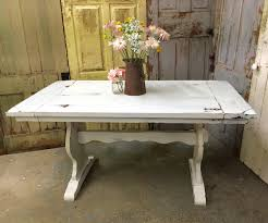white kitchen table rustic dining room table painted furniture
