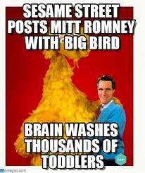 Mitt Romney Memes - sesame memes big bird and mitt romney meme on memegen