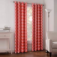 Pink And Orange Curtains Coral Color Curtains