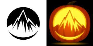 free mountain pumpkin stencil