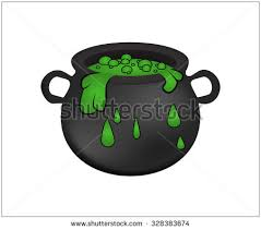 free halloween clipart witch cauldron halloween witch cauldron green potion bubbling stock vector