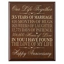 35th wedding anniversary gifts 35th wedding anniversary wall plaque gifts for