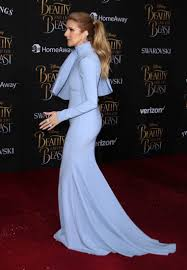 celine dion u0027s powder blue bow at beauty and the beast premiere