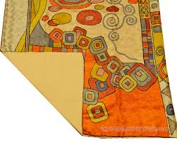 Miro 5ft X 7ft Wool by Klimt Silk Rug Swirls Wall Tapestry Hand Embroidered 2 5ft X 4ft