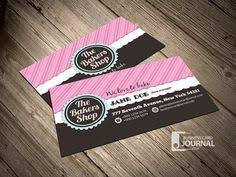 cute and whimsical cupcake bakery business cards business card
