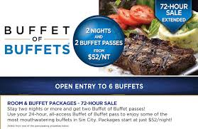 Cheap Buffets Las Vegas Strip by Buffet Of Buffets 2 Free Buffet Passes With 2 Night Hotel
