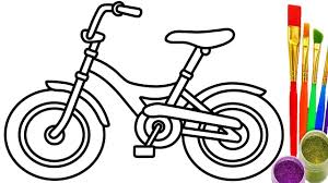 how to draw bicycle for kids coloring pages youtube videos learn