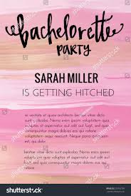bachelorette party invitation template vector bachelorette stock