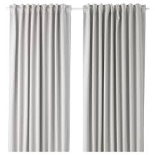 Grey Beige Curtains Majgull Blackout Curtains 1 Pair Ikea