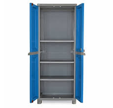 nilkamal freedom fb1 big storage cabinet dark blue and grey