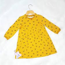 ochre bee dress autumnal jersey dress toddler dress ochre baby