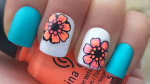 neon flower nail art advanced nail stamping for beginners youtube