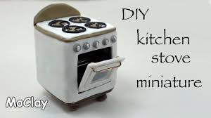 Kitchen Dollhouse Furniture by Diy How To Make A Dollhouse Stove Polymer Clay Tutorial Youtube