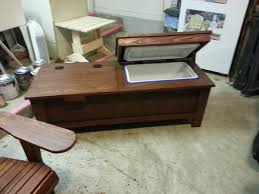 coffee table with cooler cooler coffee table combo by dave carlisle lumberjocks com
