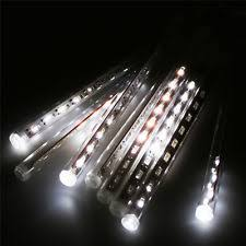 philips 12ct cool white led cascading icicle string lights ebay