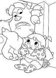 cool monsters coloring pages randall hd sulley hidding boo