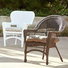 patio furniture plano wicker table with colorful pots patio