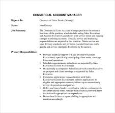 Commercial Manager Resume Sample Account Manager Resume 12 Download Free Documents In Pdf