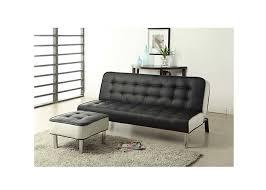 canap convertible avec repose pied cabrera noir canapés convertibles salon salle à manger