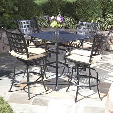 Pub Height Patio Table Design Best Bar Height Patio Furniture Sets Outdoor Pub Table Sets