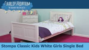 Stompa Classic Bunk Bed Stompa Classic White Single Bed Charlies Bedroom