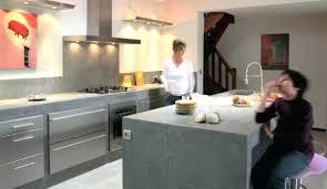 cuisine en beton beton cire cuisine pour credence solutions reviews mur lolabanet com