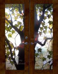 244 best stained glass trees leaves images on