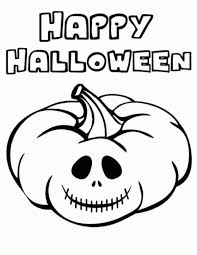 kitty happy halloween coloring pages print hallowen