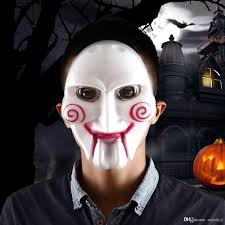Saw Costume Horror Costume Party Scary Saw Billy Pvc Mask For Halloween