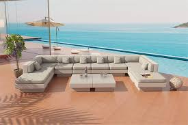 Outdoor Patio Furniture Las Vegas Venice Beach Outdoor Wicker U Shaped Sectional Sofa By Las Vegas
