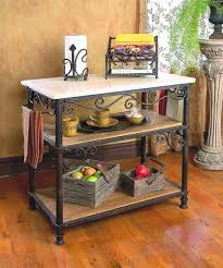 wrought iron kitchen island wrought iron siena rectangle kitchen island by toscana