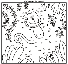 sock monkey coloring pages free monkey connect dots coloring