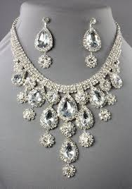 necklace rhinestone images Rhinestone necklace drop style clear silver 105551cl 29 99 jpg