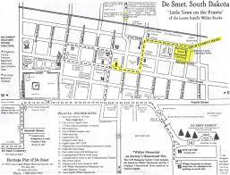 South Dakota County Map Laura Ingalls Wilder De Smet Development Corporation