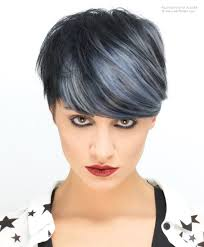 short hair with purple and black color and highlights google
