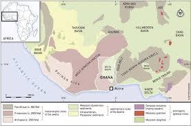 geological sketch map of west africa outline ghana b
