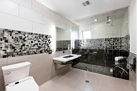 stunning modern bathroom decoration featuring large transparent