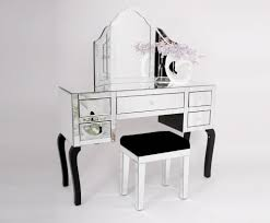 Venetian White Glass Bedroom Furniture Glass Dressing Table Crowdbuild For