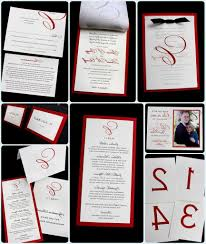Black And White Invitation Card White Silver And Red Wedding Invitations Decorating Of Party