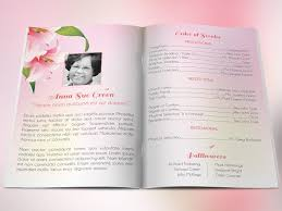 Images Of Funeral Programs Petals Funeral Program Publisher Templates Creative Market