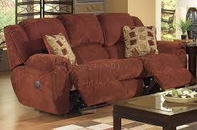 cloth reclining sofa chianti fabric modern conrad reclining sofa w options