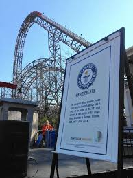 The Goliath Six Flags Six Flags Great America U0027s Goliath Earns 3 Guinness World Record